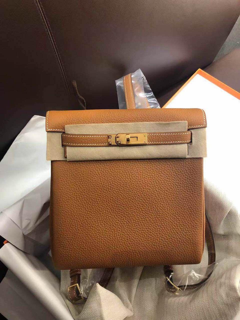 d6cb0db13f93 Hermès kellyado backpack Togo leather