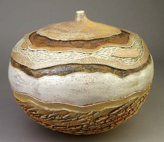 Carrie Doman Wonderful Piece Love The Colors Contrasting Textures Shape Clay Pottery