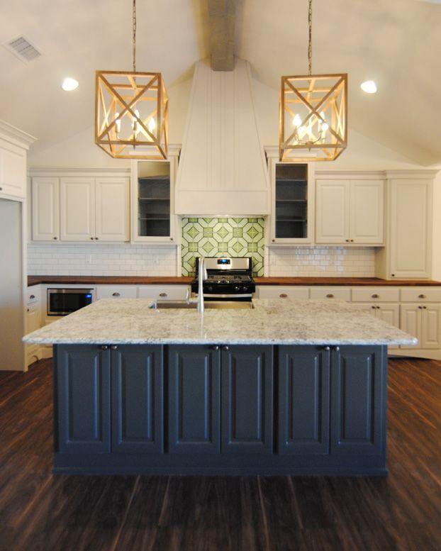 Brand New Kitchenventura Homes  Blue Kitchen Island  Counter Simple Kitchen Island Counter Decorating Design
