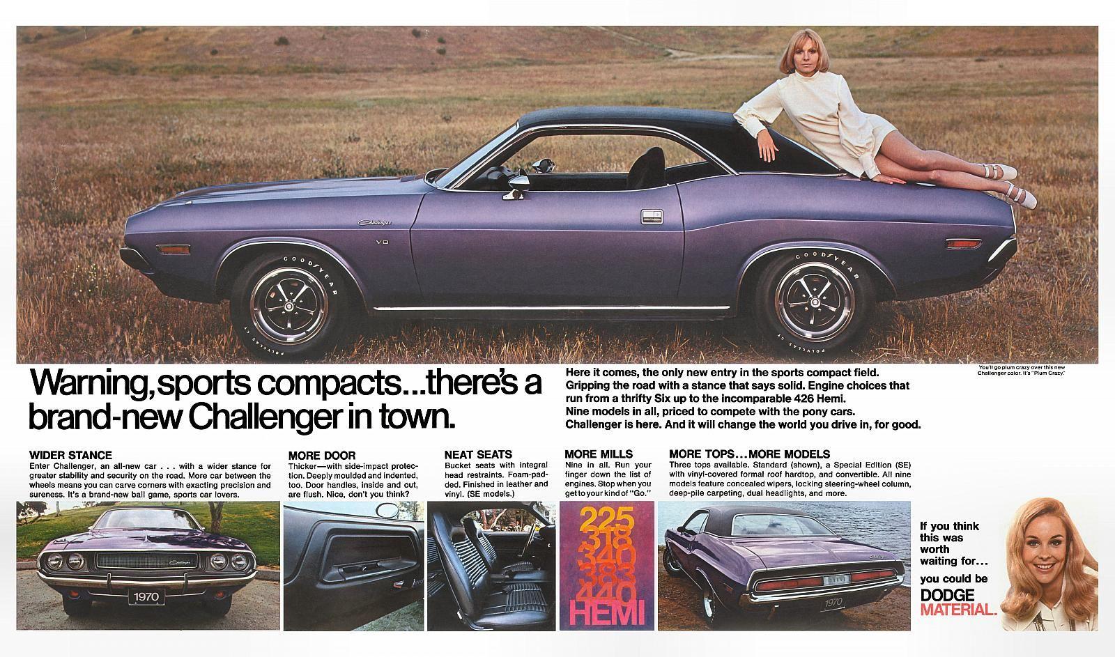 1970 Dodge Newspaper Insert 04 05 Challenger Dodge Automobile Advertising