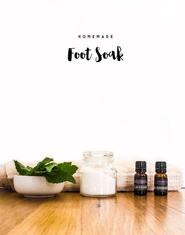 Homemade Foot Soak Recipe to Pamper Your Feet | Homemade foot soaks ...