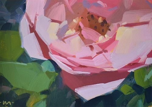 "Daily Paintworks - ""Delicate Pink"" - Original Fine Art for Sale - © Carol Marine"