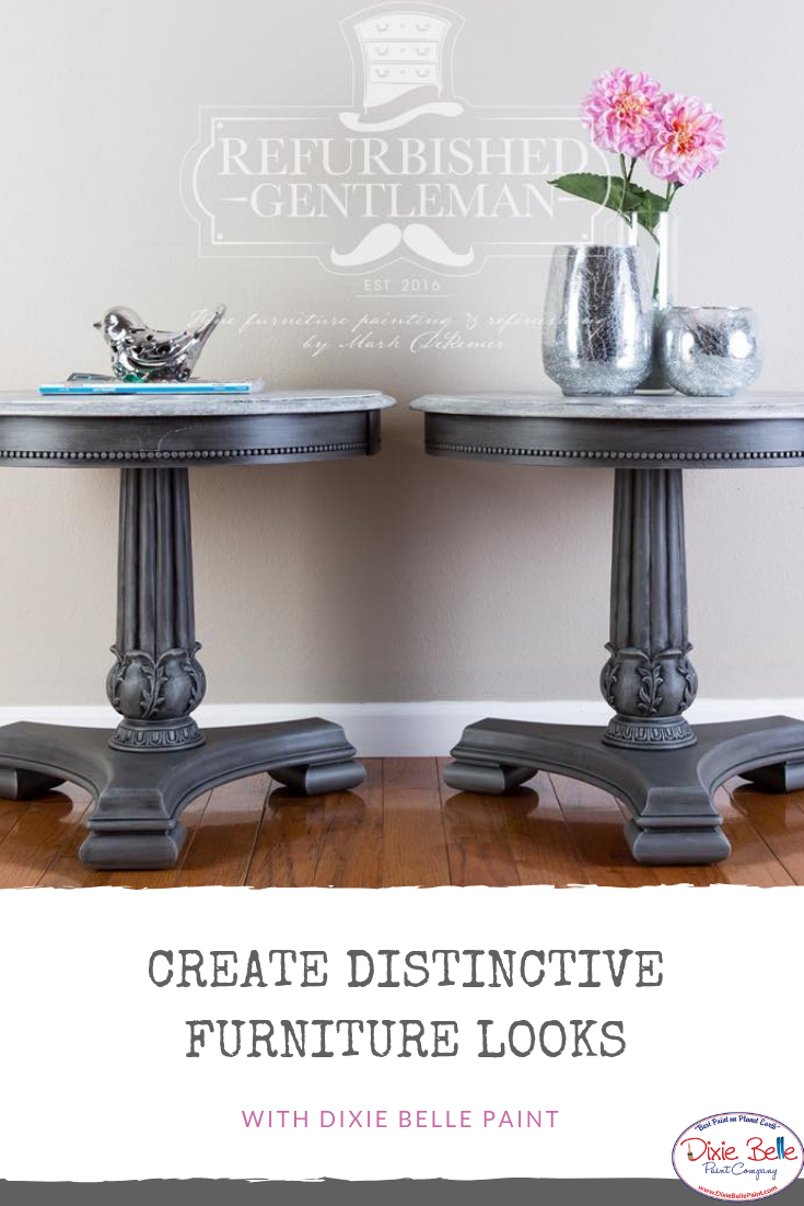 Check Out These Beautiful Tables Painted With Dixie Belle Paint In Hurricane Gray Manatee Gray And Painted Furniture Dixie Belle Paint Gray Painted Furniture