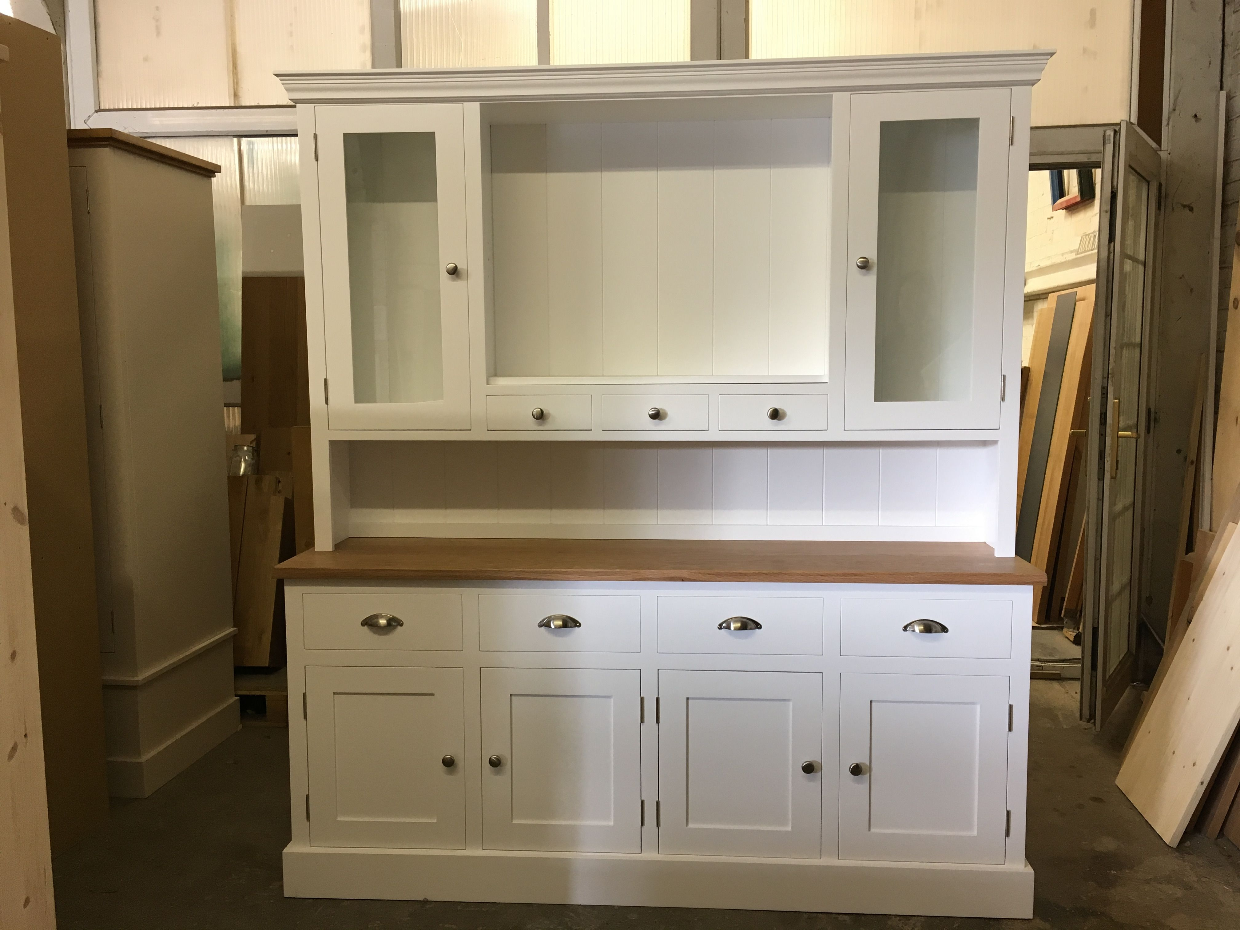 Another Glazed Dresser With An Oak Top From Cobwebs Furniture Company.  BESPOKE FURNITURE AT AFFORDABLE
