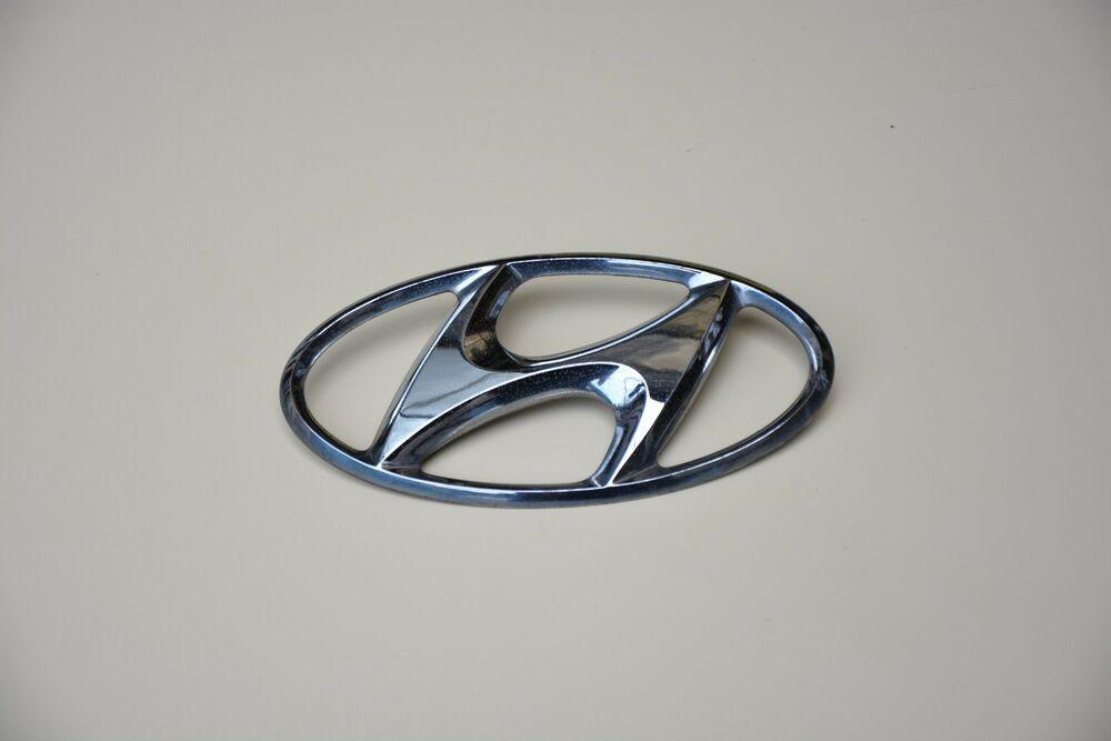 Original Hyundai Emblem Logo Sign Badge Crome Logo Sign Emblem Logo Emblems