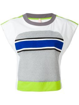 neon detail cropped T-shirt