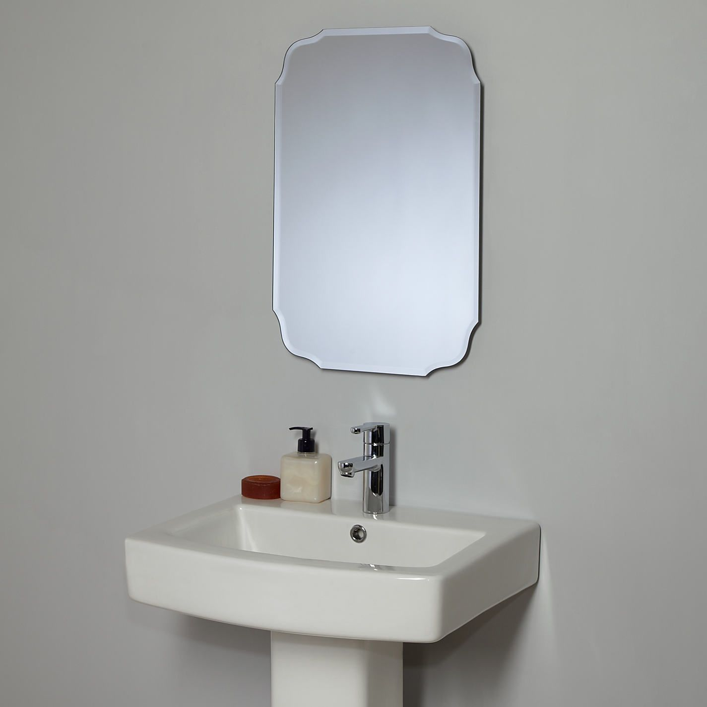 Bathroom Decorative Bathroom Mirror With Each Section End