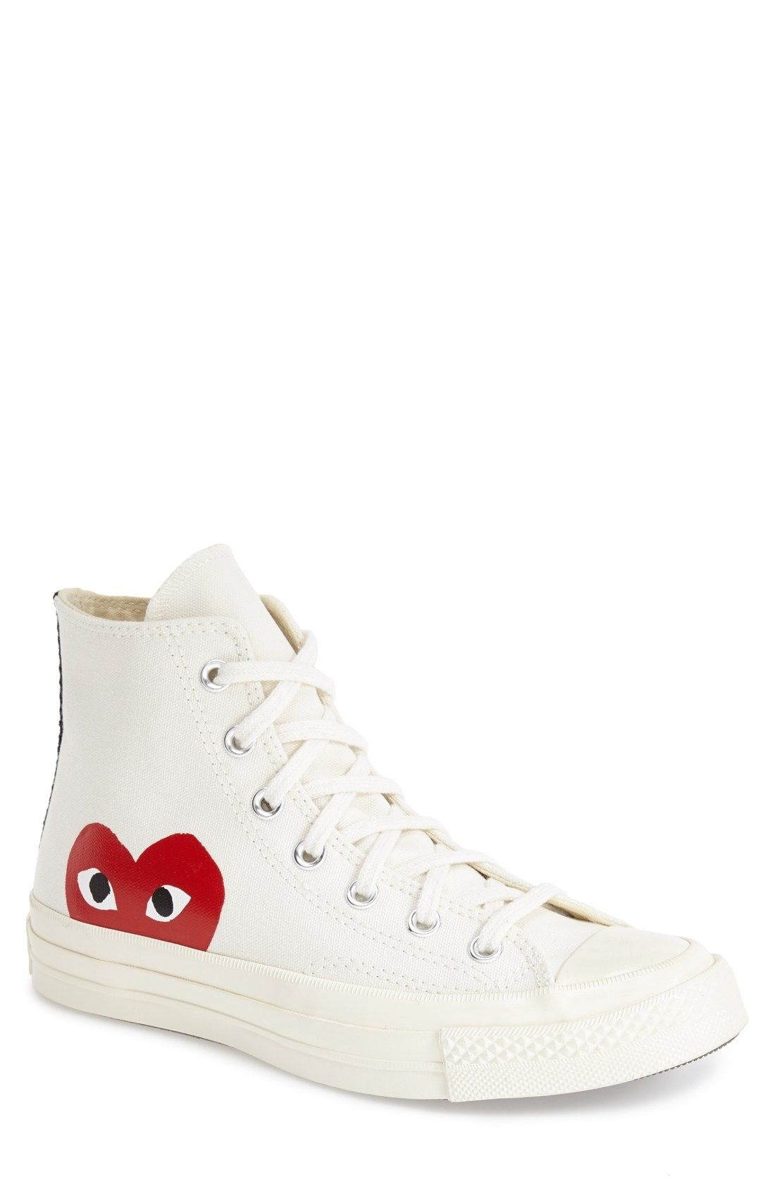 bd69e1907d0 Comme des Garçons PLAY x Converse Chuck Taylor® -  Hidden Heart  High Top  Sneaker (Men) available at  Nordstrom