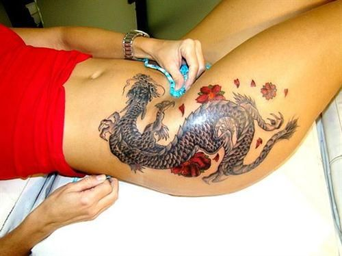 Tattoo bambini ~ 62 pretty thigh tattoos ideas for women piercings & ink