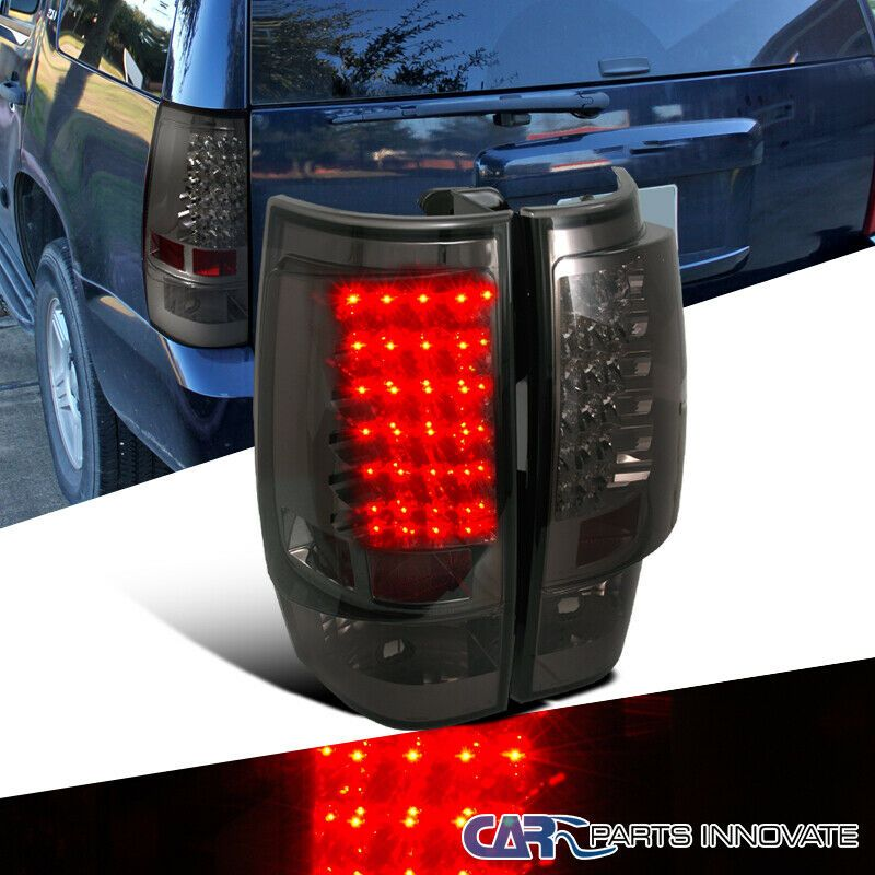 Ad Ebay 07 14 Chevy Tahoe Suburban Smoke Lens Led Tail Lights Tinted Brake Lamps Pair Chevy Tahoe Led Tail Lights Chevy