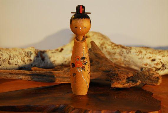 japanese kokeshi doll by Wonderingcraft on Etsy