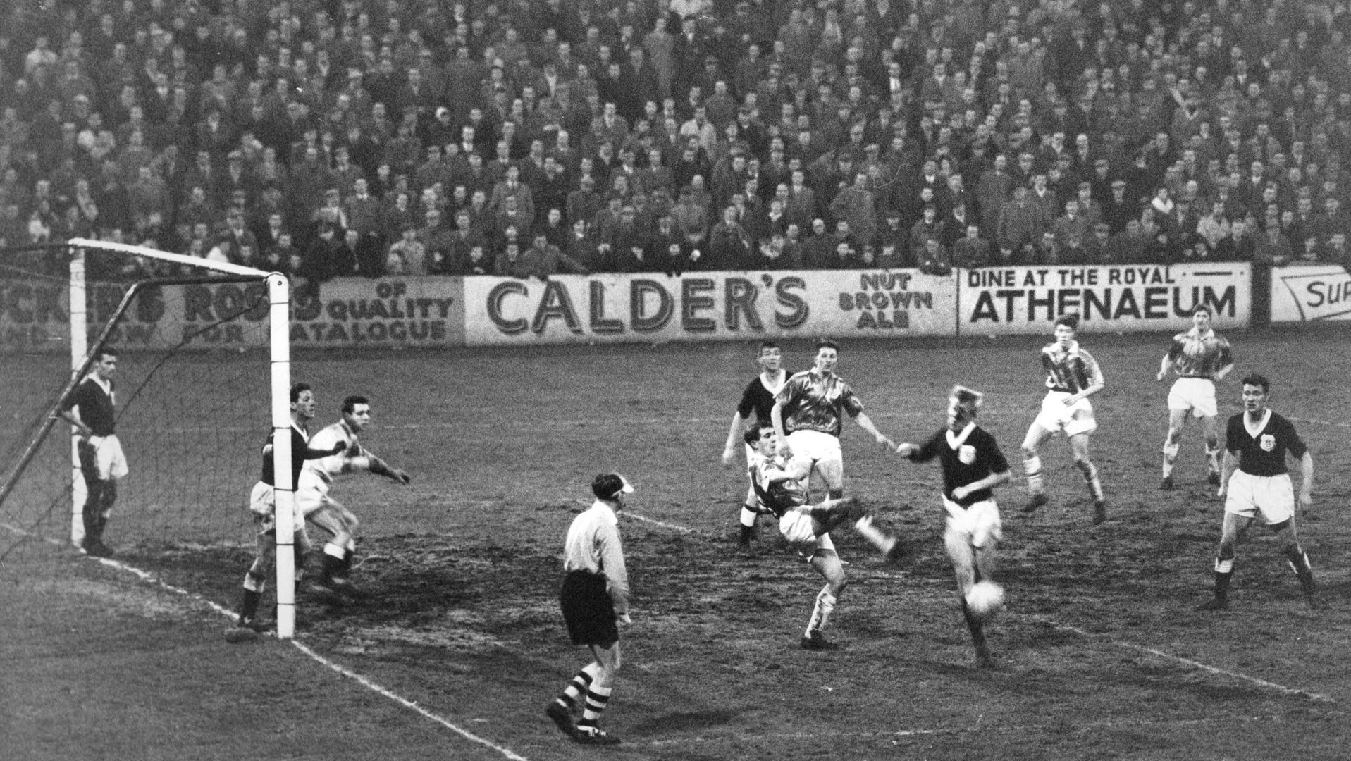 Action from Aberdeen v Dundee at Pittodrie in 1961