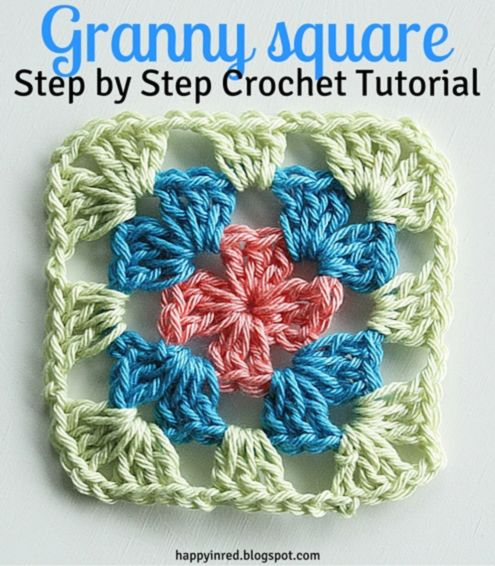 Granny square haken: duidelijke uitleg! Crochet granny square, a step by stap tutorial | Happy in Red