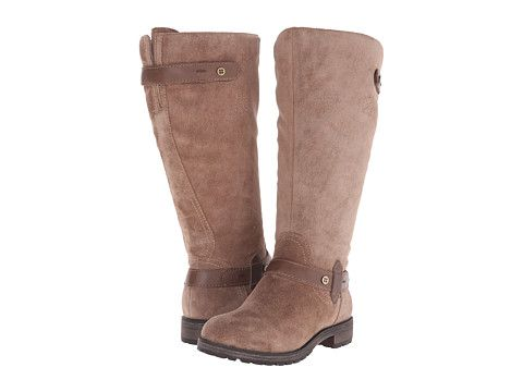 Womens Boots Naturalizer Tanita Wide Calf Truffle Taupe Suede/Leather