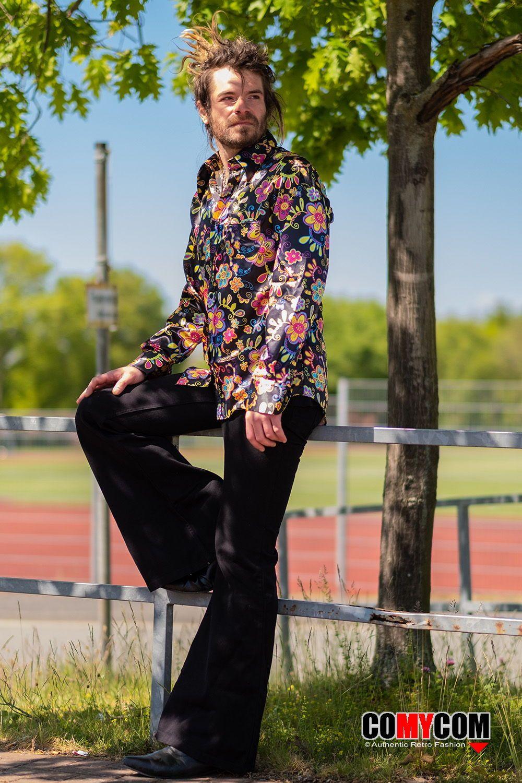 70er Herren Mode   Hemd, Retro hemden, Schlaghose