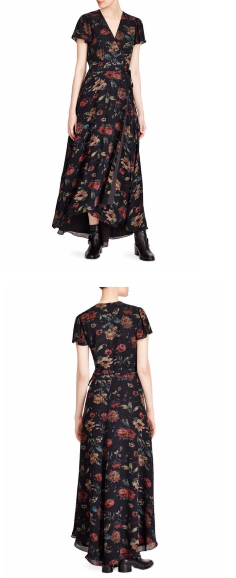 cbd37641453a Polo Ralph Lauren Polo Ralph Lauren Camron Floral Wrap Silk Dress ...