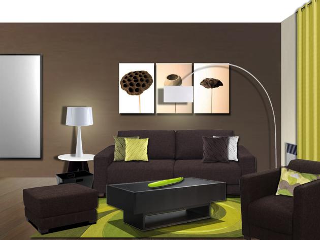 Jolie idee deco salon avec photo   Idées pour la maison en ...