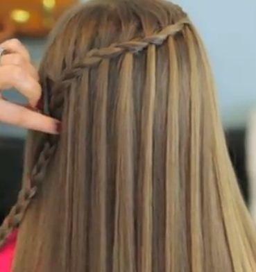 trensa de cascada Peinados lindos con trenzas Trenza cascada Peinados
