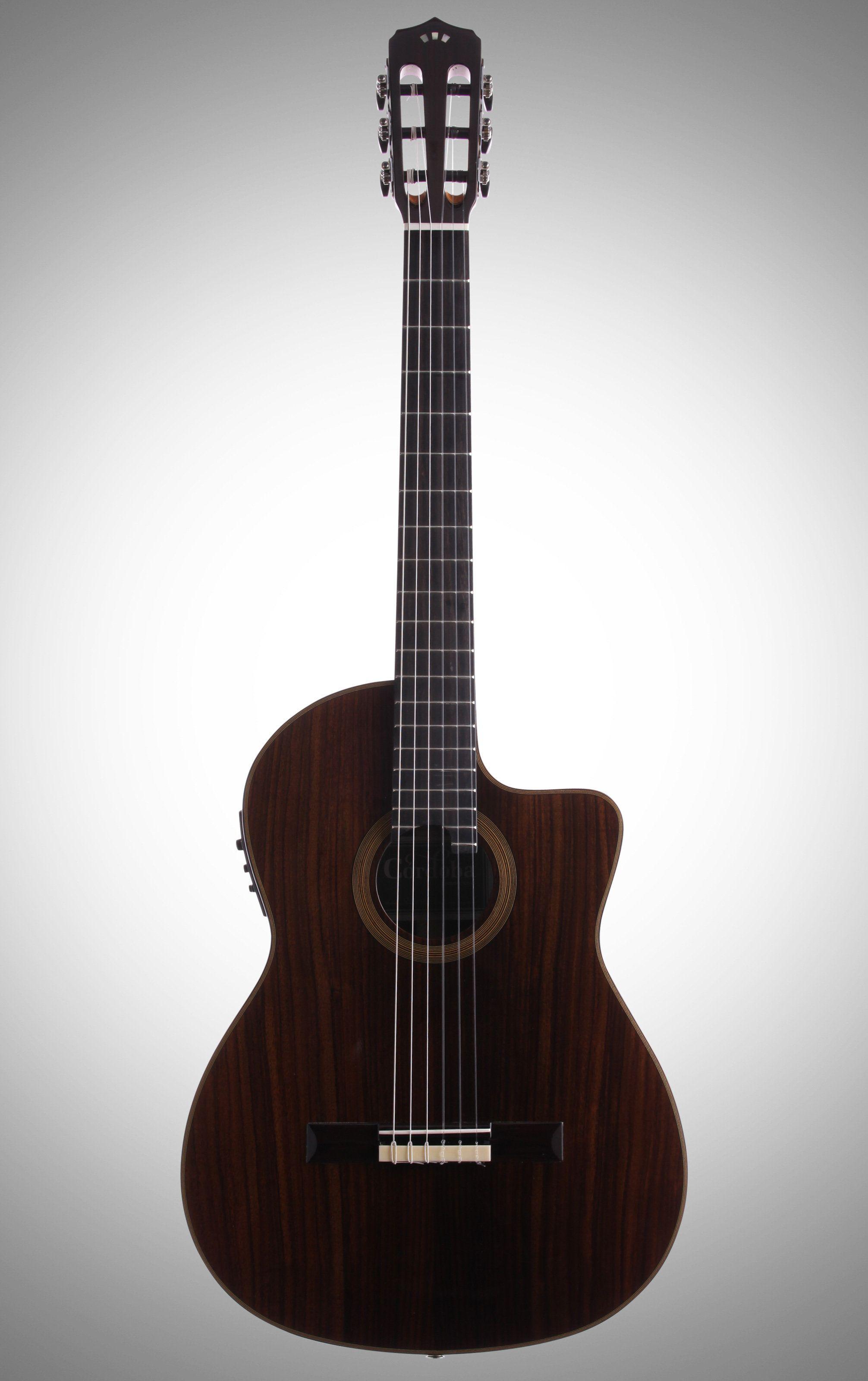 Cordoba Fusion 12 Rose Classical Acoustic Electric Guitar And Bag