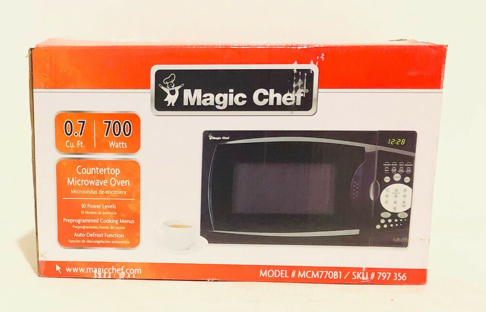 Magic Chef Mcm770b1 7 Cu Ft 700 Watts Microwave In Black 48 Bids Magic Chef Countertop Microwave Microwave