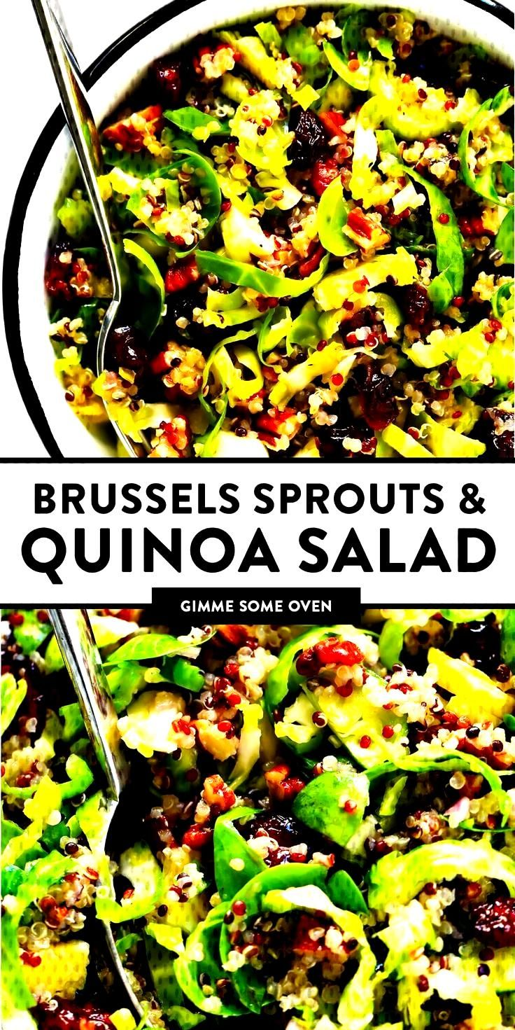 Brussels Sprouts, Cranberry and Quinoa Salad -