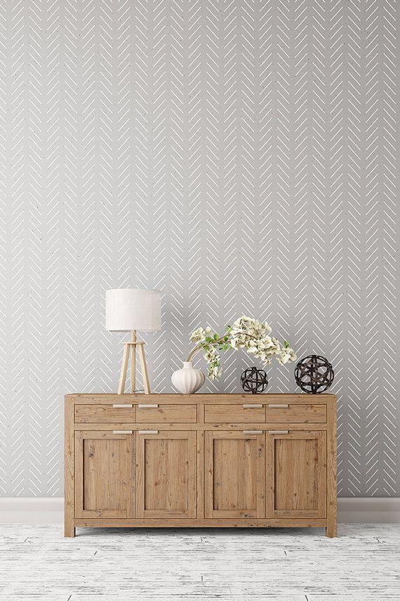 Espiga simple stencil grande decorativo pared escandinavo para proyectos diy look de fondo - Papel pintado dormitorio principal ...