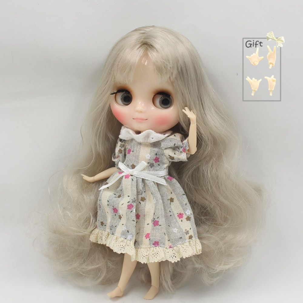 Factory Middie Blythe Doll Silver Grey Hair Jointed Body ...