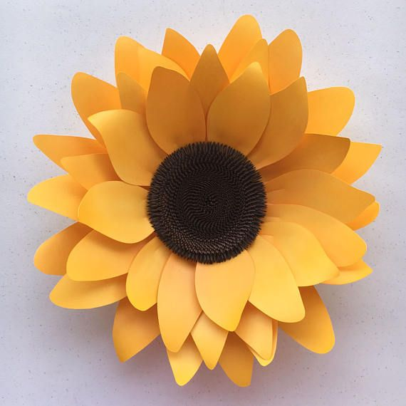 diy sunflower paper flower template for silhouette or cricut
