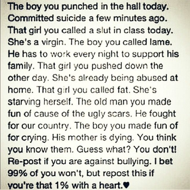 Stop Bullying!! Love & Respect More...
