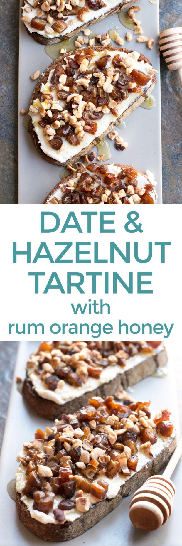 Ricotta date hazelnut tartine with spiced rum honey recipe food forumfinder Choice Image