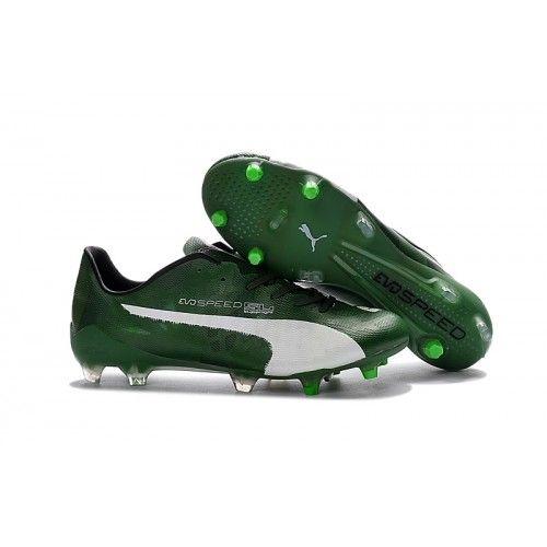 6fd8aeb065f0 Puma evoSPEED - Puma evoSPEED 1.4 SL FG Football Boots Green White ...