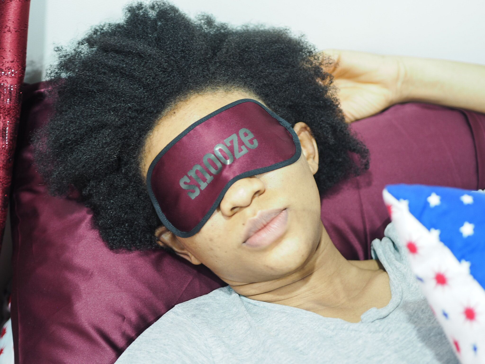 Image result for black girl sleeping on a satin pillowcase