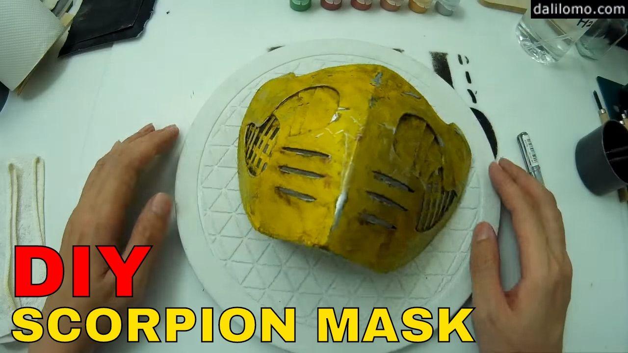 Diy Scorpion Mask Cardboard Box Cosplay How To Ideias