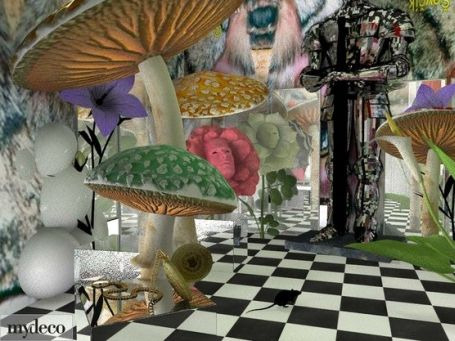 Alice In Wonderland 3D Room