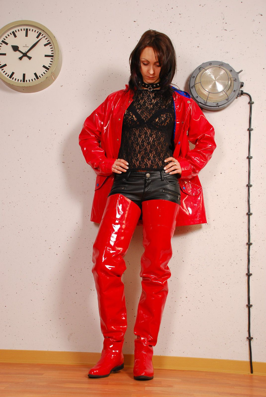 Lack Kleidung Pin Auf Lack Plastic Pvc Latex And Boots
