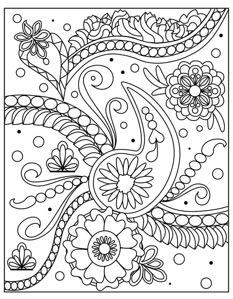 Zendoodle coloring enchanting gardens - Zendoodle Coloring Big Picture Calming Garden