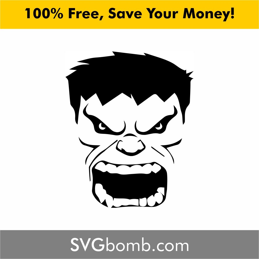 Hulk Face SVG | Free svg cut files | Cricut svg files free