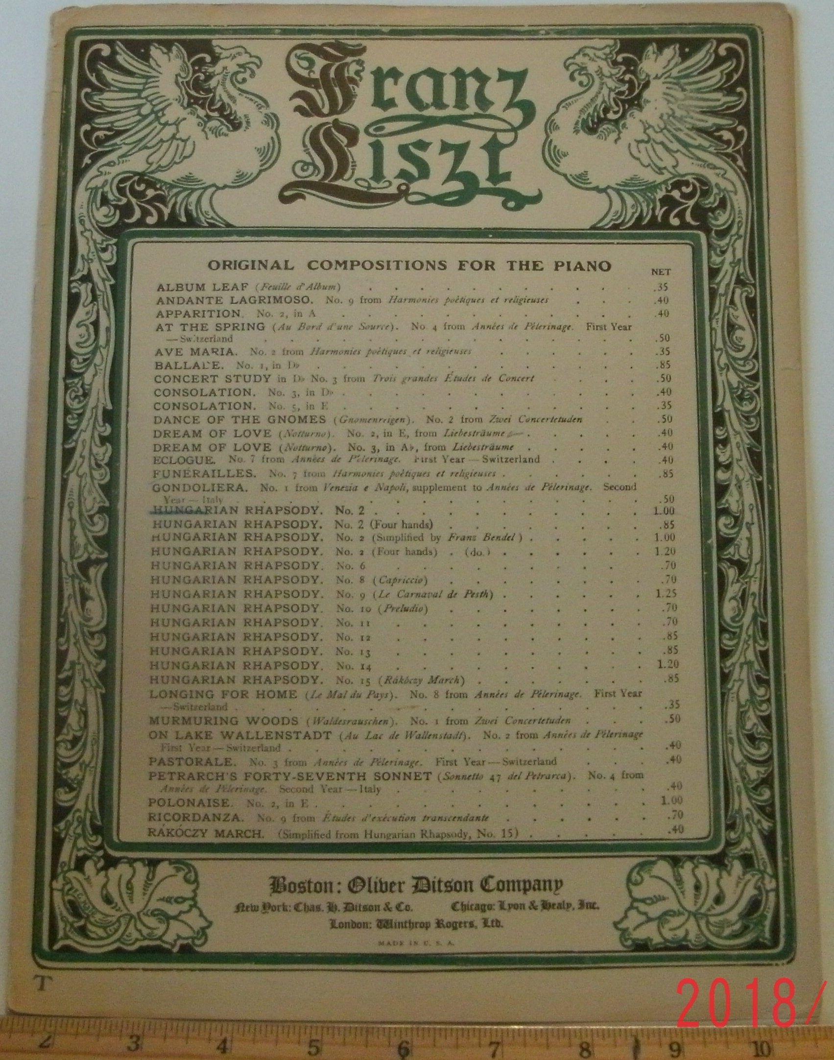 Hungarian Rhapsody No 2 Sheet Music By Franz Liszt 1904 Etsy Sheet Music Liszt Music
