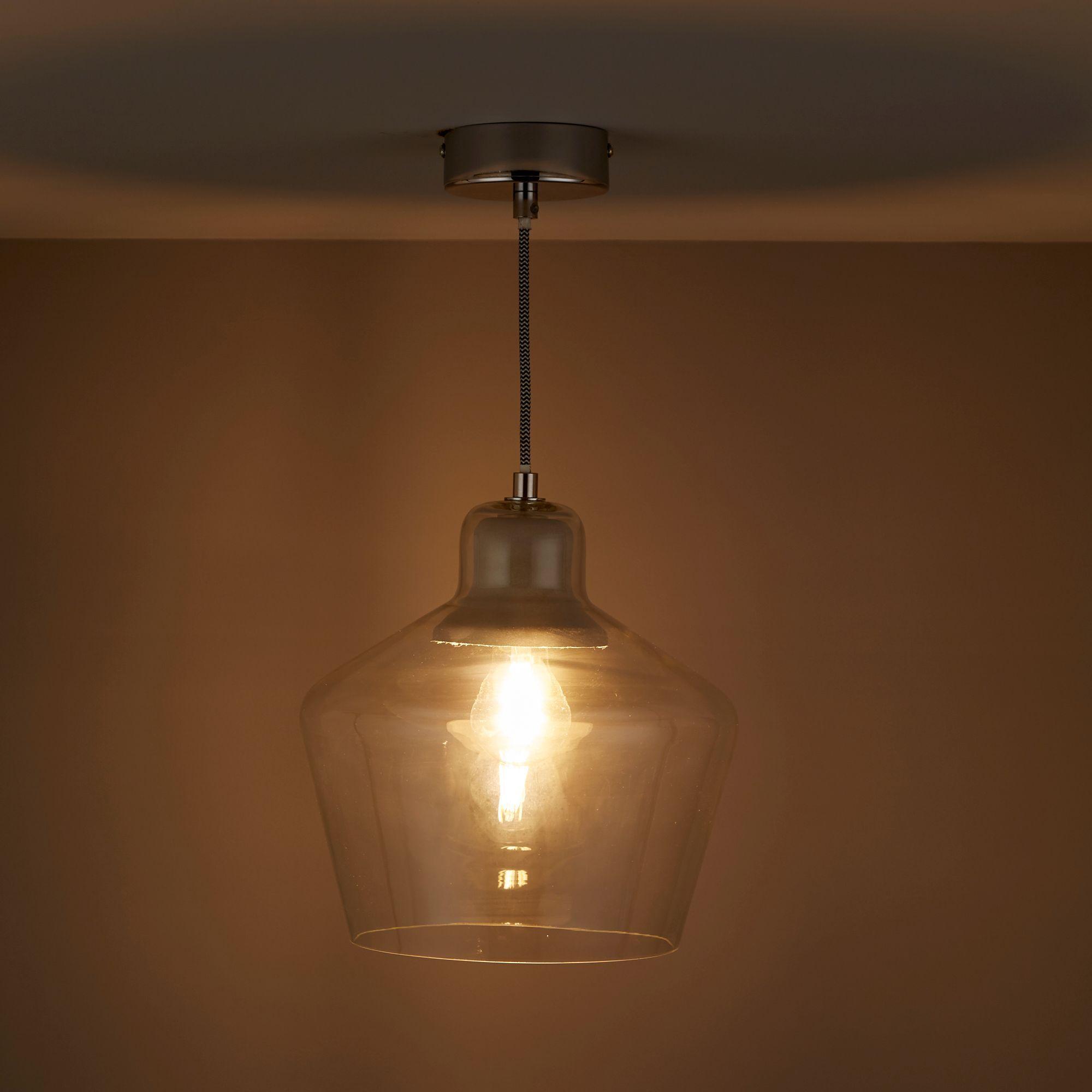 diy ceiling lighting. Jidda Clear Pendant Ceiling Light - Large Diy Lighting