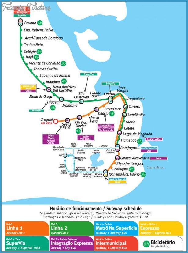 Rio De Janeiro Metro Map Transit Map Metro Map Subway Map