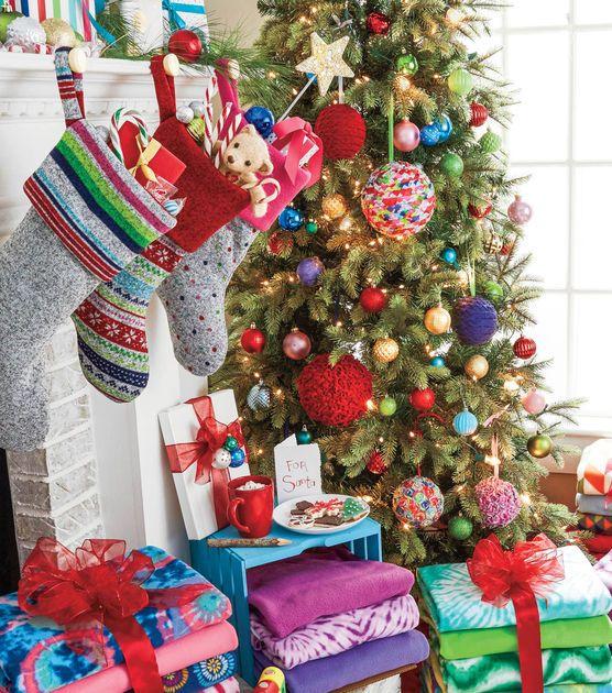 How To Make Decorative Fleece Ornaments Joann Jo Ann Christmas Crafts Christmas Decorations Diy Holiday Decor