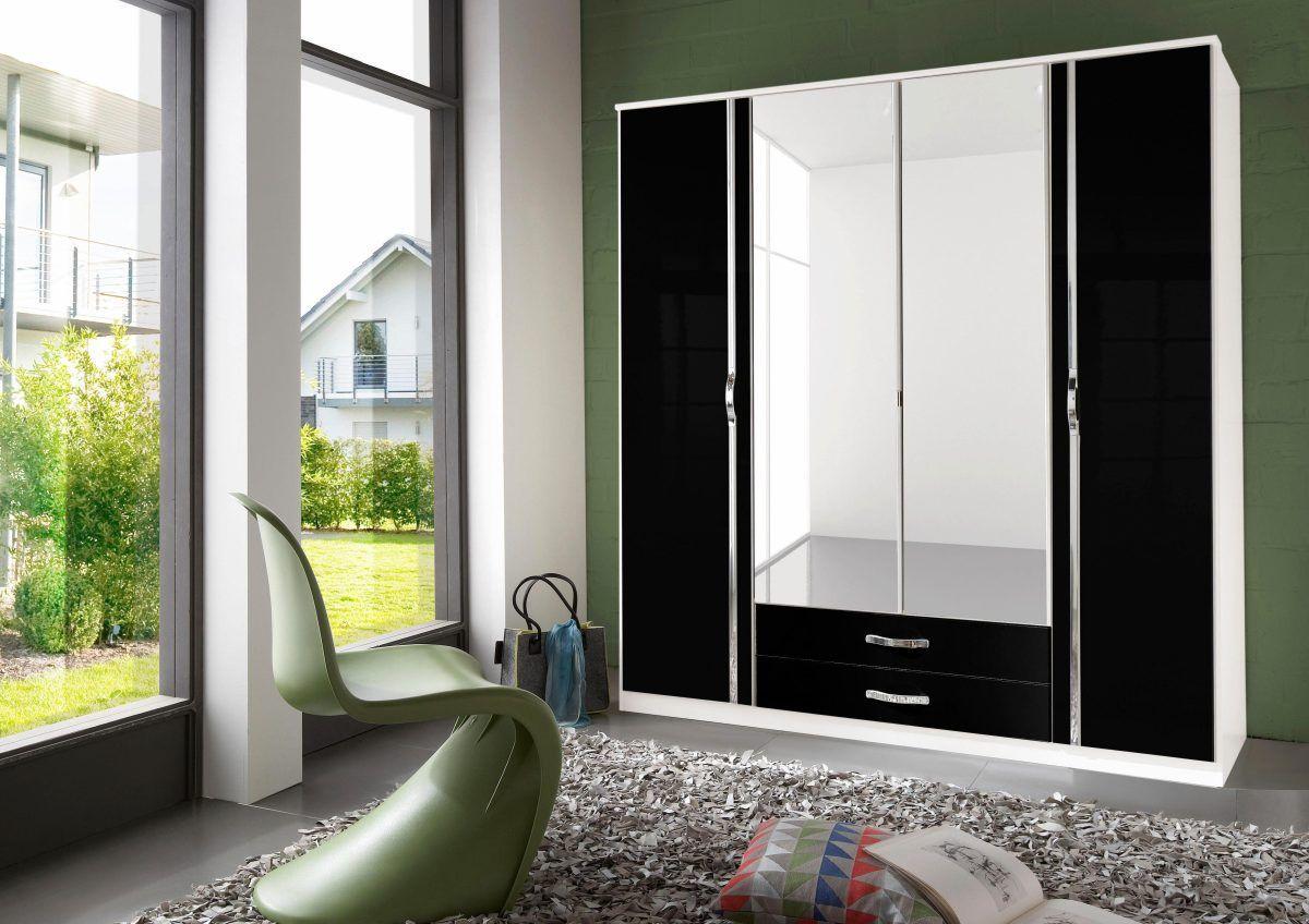 Wohnzimmer Eckschrank ~ Eck schrank »bonn« schwarz breite 180 cm 4 türig hochglanz mit