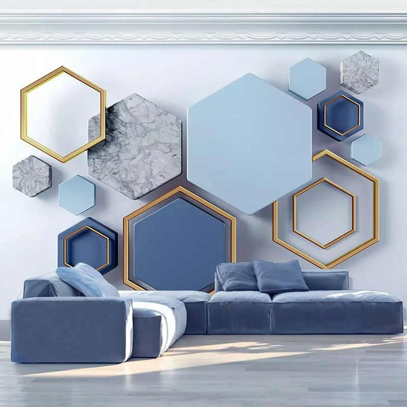 Custom Murals Wallpaper Modern 3d Stereo Abstract Art Geometric Photo Wall Painting Living Room Bedroom Background Wall Covering Wallpapers Aliexpress Wall Painting Living Room Wall Decor Bedroom Living Room Paint