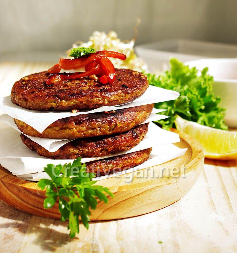 Hamburguesas de quinoa y lentejas germinadas germinado - Hamburguesas vegetarianas caseras ...