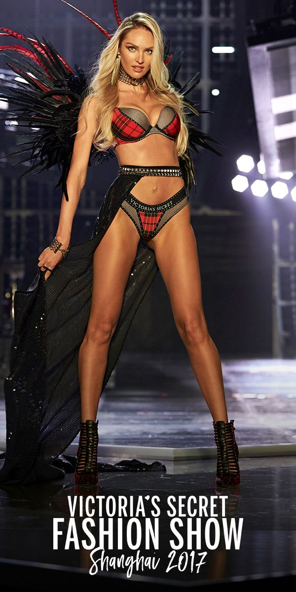 d352c59f15c62 Candice Swanepoel in the VS x Balmain Strappy High-neck Bra   Fishnet  Cheeky Panty. Select stores   online.