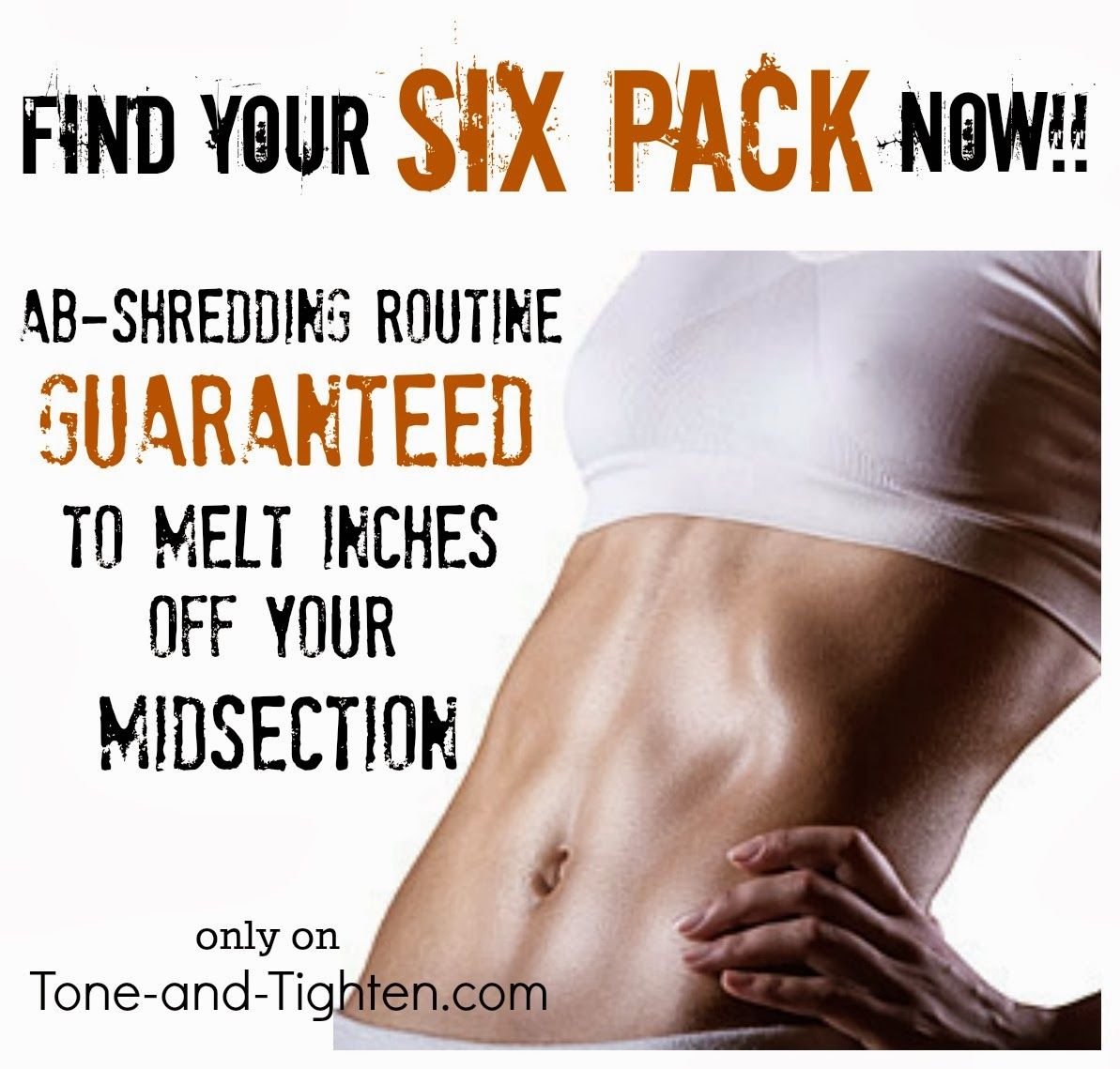 Uncover your six pack now with this ab-shredding routine from Tone-and-Tighten.com