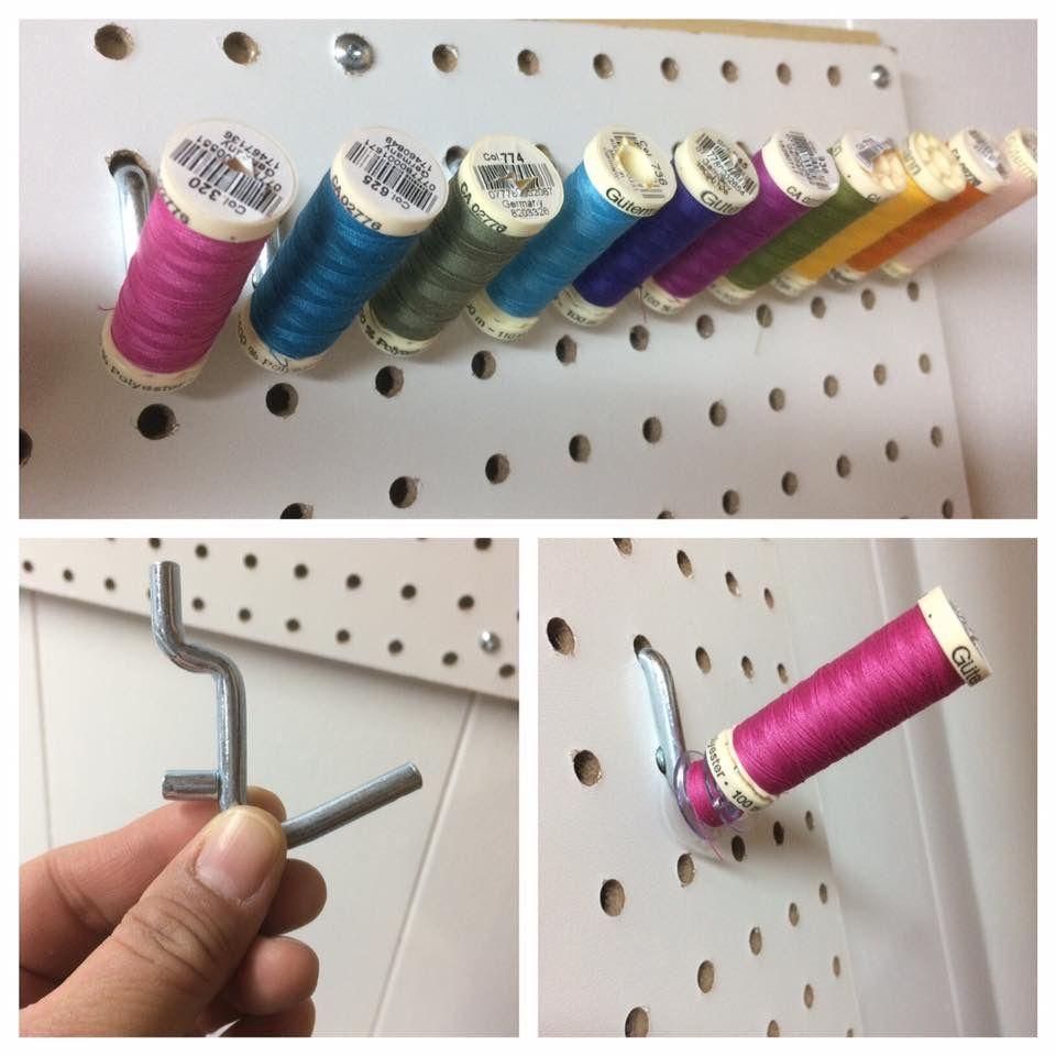 Peg board thread holder thread holder peg board peg