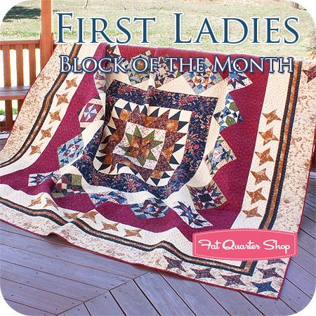 First Ladies Block of the Month Denise Lipscomb of Common Threads ... : first ladies quilt - Adamdwight.com