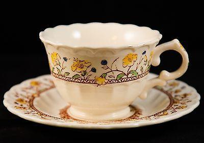 Vernon Kilns Pottery Casual California Lime Green Cup /& Saucer Set