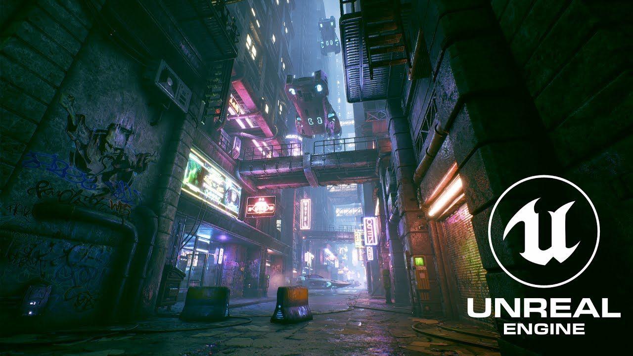 Cyberpunk City Alley - Unreal Engine 4   Cyberpunk/Dystopian